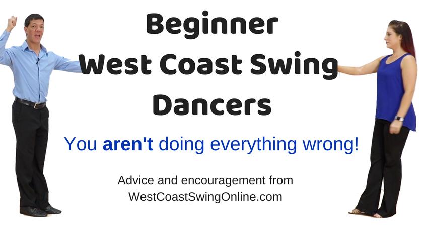 Beginner west coast swing struggles