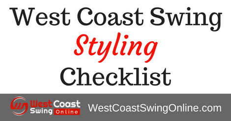 west coast swing styling checklist